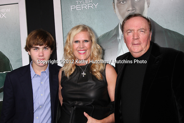 "LOS ANGELES - OCT 15:  James Patterson, son and wife arrives at the ""Alex Cross"" Premiere at ArcLight Cinemas Cinerama Dome on October 15, 2012 in Los Angeles, CA"