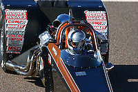 Feb 26, 2016; Chandler, AZ, USA; NHRA top dragster driver Chuck Phelps during qualifying for the Carquest Nationals at Wild Horse Pass Motorsports Park. Mandatory Credit: Mark J. Rebilas-