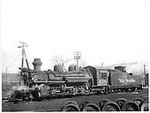 D&amp;RGW #478 K-28 in Durango.<br /> D&amp;RGW  Durango, CO  Taken by Payne, Andy M. - 1/26/1960