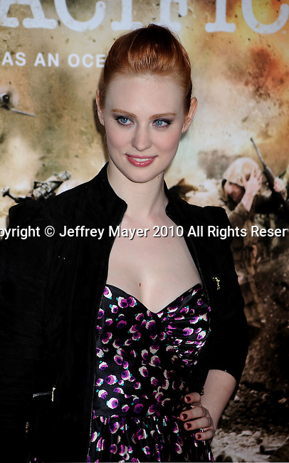 "LOS ANGELES, CA. - February 24: Deborah Ann Woll arrives to HBO's premiere of ""The Pacific"" at Grauman's Chinese Theatre on February 24, 2010 in Los Angeles, California."