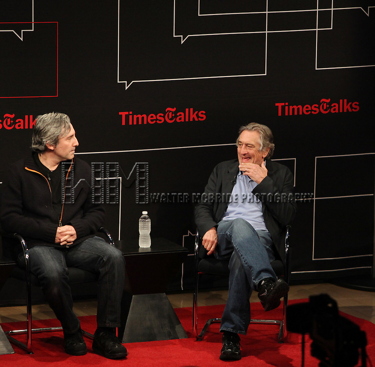 Times Talks with Robert De Niro & Paul Weitz at The Times Center on 3/13/2012 in New York City.