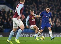 Aston Villa's Jack Grealish tackles Chelsea's Mateo Kovacic during Chelsea vs Aston Villa, Premier League Football at Stamford Bridge on 4th December 2019