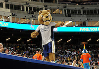 Florida International University mascot, Rory, entertains during the game against the Miami Marlins, which won the game 5-1 on March 7, 2012 at Miami, Florida. .