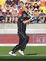 Blackcaps Colin Munro bats during the third ODI cricket match between the Blackcaps & England at Westpac stadium, Wellington. 3rd March 2018. © Copyright Photo: Grant Down / www.photosport.nz