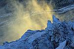 Séracs du glacier de Fee au dessus de la vallée de Sas Fee.