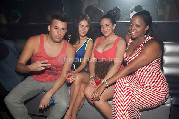 Johnny Donovan, Chrisitie Livoti, Jennifer DiBitetto and Kelly Linton of Brooklyn 11223 attend A Bad Girls Club Night Out at Splash in New York City. August 8, 2012. © Diego Corredor/MediaPunch Inc.