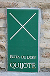 Don Quixote Tourist Route Sign, Toledo, Castilla - La Mancha