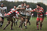 Ben Masoe makes a strong run upfield. Counties Manukau Premier rugby game between Karaka & Manurewa played at the Karaka Domain on July 5th 2008..Karaka won 22 - 12.