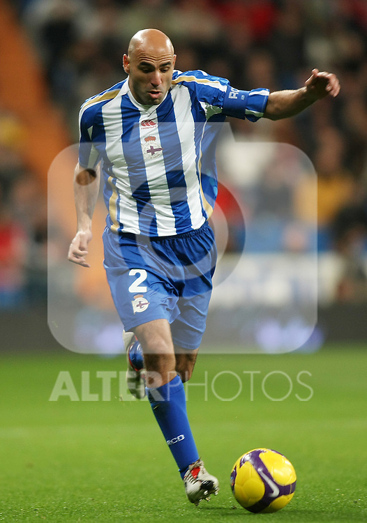 Deportivo de la Coruna's Manuel Pablo during La Liga match.January 25 2009. (ALTERPHOTOS/Acero).