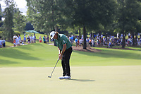 Pat Perez (USA) putts on the 18th green during Friday's Round 2 of the 2017 PGA Championship held at Quail Hollow Golf Club, Charlotte, North Carolina, USA. 11th August 2017.<br /> Picture: Eoin Clarke | Golffile<br /> <br /> <br /> All photos usage must carry mandatory copyright credit (&copy; Golffile | Eoin Clarke)