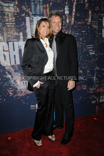 WWW.ACEPIXS.COM<br /> February 15, 2015 New York City<br /> <br /> Dorothea Bon Jovi and Jon Bon Jovi walking the red carpet at the SNL 40th Anniversary Special at 30 Rockefeller Plaza on February 15, 2015 in New York City.<br /> <br /> Please byline: Kristin Callahan/AcePictures<br /> <br /> ACEPIXS.COM<br /> <br /> Tel: (646) 769 0430<br /> e-mail: info@acepixs.com<br /> web: http://www.acepixs.com
