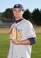 2007:  Colten Willems of the Vermont Lake Monsters, Class-A affiliate of the Washington Nationals, during the New York-Penn League baseball season.  Photo by Mike Janes/Four Seam Images
