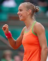 Arantxa Rus (NED)26-05-11, Tennis, France, Paris, Roland Garros ,  Arantxa Rus verslaat Clijsters