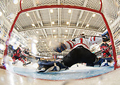 Dawson Creek, BC - Dec 8 2019: Game 4 - Canada East vs Canada West at the 2019 World Junior A Championship at the ENCANA Event Centre in Dawson Creek, British Columbia, Canada. (Photo by Matthew Murnaghan/Hockey Canada)