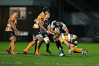 Ma'afu Fia of Ospreys is tackled by Tian Schoeman of Cheetahs during the Guinness Pro 14 Round 7 match between Ospreys and Cheetahs at The Gnoll in Neath, Wales, UK. Saturday 30 November 2019