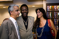 Pele, Sunil Gulati. The group watched Brazil defeat the United States, 2-0, in an international friendly at the New Meadowlands Stadium in East Rutherford, NJ.