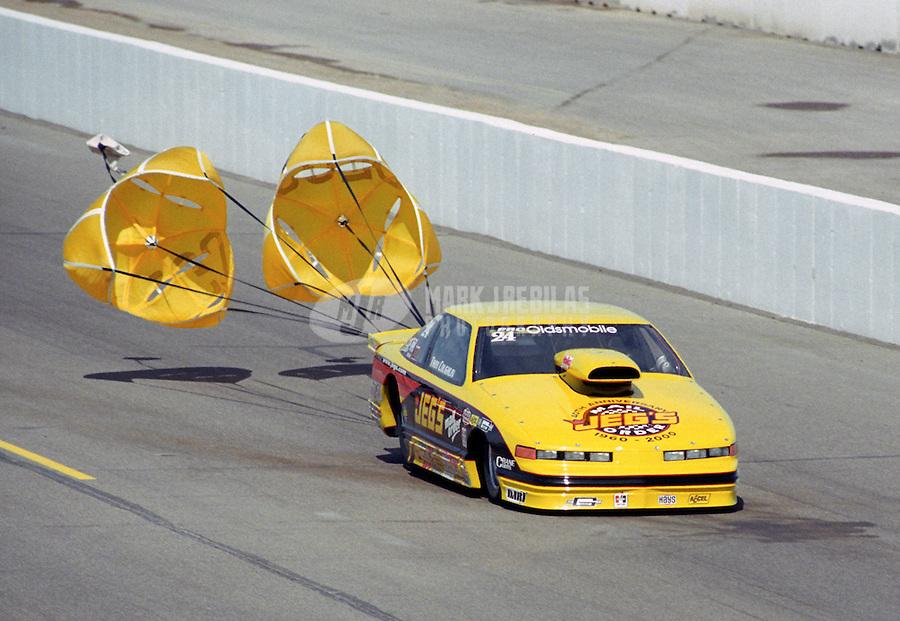 Feb. 25, 2000; Chandler, AZ, USA; NHRA pro stock driver Troy Coughlin during the CSK Nationals at Firebird International Raceway. Mandatory Credit: Mark J. Rebilas-
