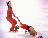 Brigit Lorenz and Knut Shubert of Germany compete at the 1984 World Figure Skating Championships in Ottawa, Canada. Photo copyright Scott Grant.