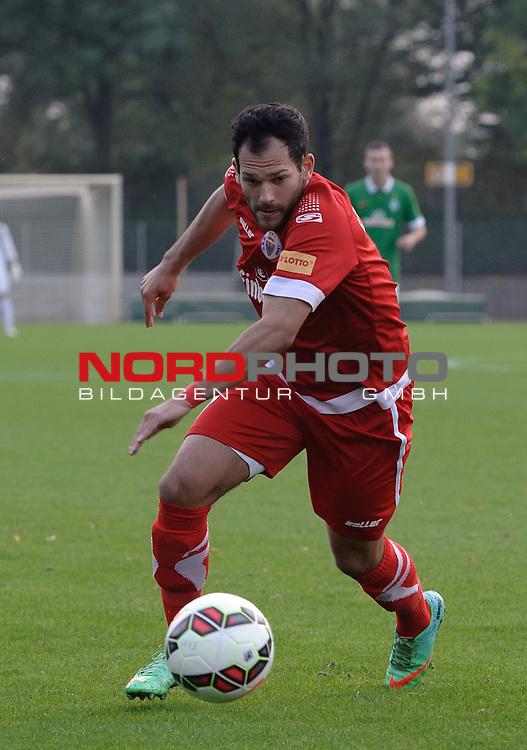 05.10.2014, Platz 11, Bremen, GER, RLN, Werder Bremen II vs Goslarer SC 08, im Bild Garrit Golombek (Goslar #7)<br /> <br /> Foto &copy; nordphoto / Frisch