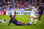 11.08.2019, Stadion an der Bremer Brücke, Osnabrück, GER, DFB Pokal, 1. Hauptrunde, VfL Osnabrueck vs RB Leipzig, DFB REGULATIONS PROHIBIT ANY USE OF PHOTOGRAPHS AS IMAGE SEQUENCES AND/OR QUASI-VIDEO<br /> <br /> im Bild | picture shows:<br /> Etienne Amenyido (VfL Osnabrueck #14) im Duell mit Diego Demme (RB Leipzig #31), <br /> <br /> Foto © nordphoto / Rauch