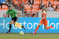 Houston, TX - Sunday June 19, 2016: Kealia Ohai during a regular season National Women's Soccer League (NWSL) match between the Houston Dash and FC Kansas City at BBVA Compass Stadium.