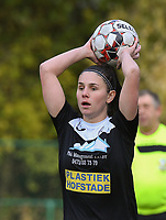 20191116 – WONDELGEM, BELGIUM : Aalst's Annelies Van Loock  pictured during a women soccer game between AA Gent Ladies and Eendracht Aalst in the ¼  quarter finals of the Belgium Women's Cup Competition  season 2019-2020 , saturday 16 th November 2019 at the Neptunus site stadium in Wondelgem,  Gent  , Belgium  .  PHOTO SPORTPIX.BE | DIRK VUYLSTEKE