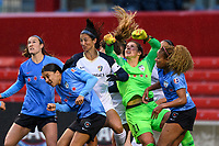 Bridgeview, IL - Sunday May 12, 2019: Chicago Red Stars vs North Carolina Courage at SeatGeek Stadium.