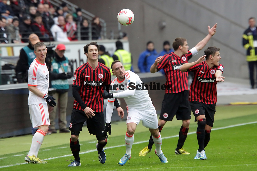Franck Ribery (Bayern) setzt sich durch