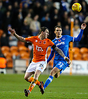 Blackpool's Callum Cooke battles with Portsmouth's Kal Naismith<br /> <br /> Photographer Alex Dodd/CameraSport<br /> <br /> The EFL Sky Bet League One - Blackpool v Portsmouth - Saturday 11th November 2017 - Bloomfield Road - Blackpool<br /> <br /> World Copyright &copy; 2017 CameraSport. All rights reserved. 43 Linden Ave. Countesthorpe. Leicester. England. LE8 5PG - Tel: +44 (0) 116 277 4147 - admin@camerasport.com - www.camerasport.com