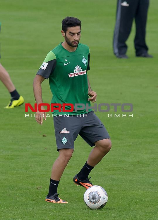 04.09.2013, Trainingsgelaende, Bremen, GER, 1.FBL, Training Werder Bremen, im Bild Mehmet Ekici (Bremen #10)<br /> <br /> Foto &copy; nph / Frisch