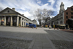 (Boston, Ma 041913) A deserted Quincy Market during the normally busy lunch time where tourists typically pack the area. (Jim Michaud Photo) For Saturday