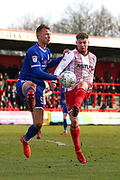 George Ray of Crewe Alexandra and Ben Kennedy of Stevenage during Stevenage vs Crewe Alexandra, Sky Bet EFL League 2 Football at the Lamex Stadium on 10th March 2018