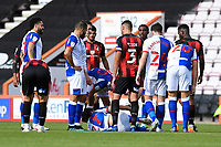 Injury concern for Lewis Travis of Blackburn Rovers after a Jefferson Lerma of Bournemouth tackle during AFC Bournemouth vs Blackburn Rovers, Sky Bet EFL Championship Football at the Vitality Stadium on 12th September 2020
