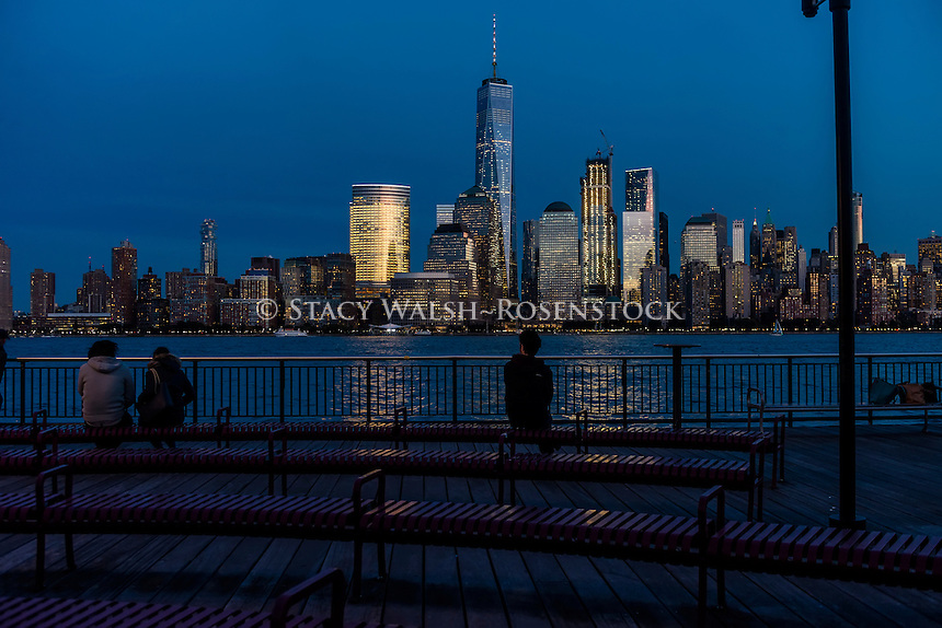 Jersey City, NJ 26 October 2016 =  View of the Lower Manhattan Skyline with the World Trade Center and World Financial Center. ©Stacy Walsh Rosenstock