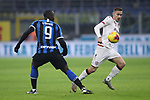 Marko Rog of Cagliari takes on Romelu Lukaku of Inter during the Coppa Italia match at Giuseppe Meazza, Milan. Picture date: 14th January 2020. Picture credit should read: Jonathan Moscrop/Sportimage
