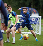 30.08.2019 Rangers training: Jamie Barjonas and Brandon Barker