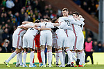 Sheffield United players huddle during the Premier League match at Carrow Road, Norwich. Picture date: 8th December 2019. Picture credit should read: James Wilson/Sportimage
