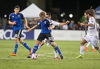 Santa Clara, California - August 30, 2014: San Jose Earthquakes face off against Real Salt Lake at Buck Shaw Stadium on Saturday.