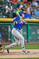 Brandon Nimmo (7) of the Las Vegas 51s at bat against the Salt Lake Bees in Pacific Coast League action at Smith's Ballpark on June 19, 2016 in Salt Lake City, Utah. The 51s defeated the Bees 8-1. (Stephen Smith/Four Seam Images)