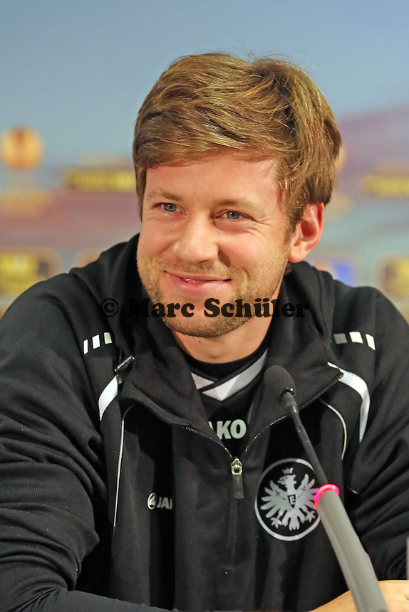 Marco Russ (Eintracht) - Eintracht Frankfurt Europa League Pressekonferenz