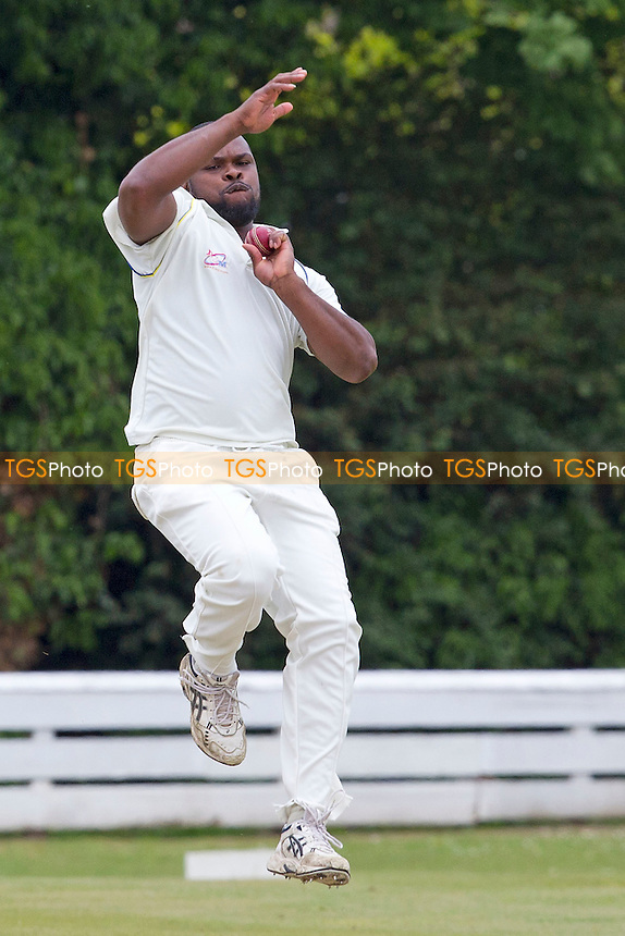 L.Daniels of Chingford CC in action- Chingford CC vs Orsett CC - Essex Cricket League at Forest Side - 02/06/12 - MANDATORY CREDIT: Ray Lawrence/TGSPHOTO - Self billing applies where appropriate - 0845 094 6026 - contact@tgsphoto.co.uk - NO UNPAID USE.