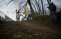 (later winner) Katie Comptom (USA)<br /> <br /> Vlaamse Druivencross Overijse 2013
