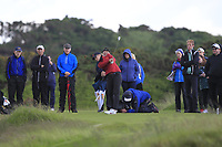 Amelia Garvey (NZL) on the 7th tee during the Matchplay Final of the Women's Amateur Championship at Royal County Down Golf Club in Newcastle Co. Down on Saturday 15th June 2019.<br /> Picture:  Thos Caffrey / www.golffile.ie