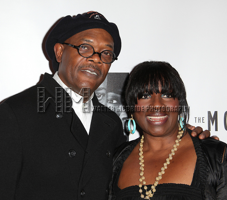 Samuel L. Jackson and his wife Latanya Richardson.attending the Opening Night Performance After Party for 'The Mountaintop' at eSpace in New York City.