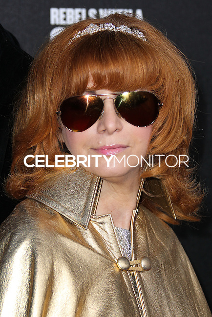 HOLLYWOOD, LOS ANGELES, CA, USA - MARCH 20: Linda Ramone at the 2nd Annual Rebels With A Cause Gala Honoring Larry Ellison held at Paramount Studios on March 20, 2014 in Hollywood, Los Angeles, California, United States. (Photo by Xavier Collin/Celebrity Monitor)