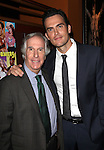"Actor Henry Winkler and actor Cheyenne Jackson attends press event to introduce the cast and creators of the new Broadway play ""The Performers""at the Hard Rock Cafe on Tuesday, Sept. 25, 2012 in New York."