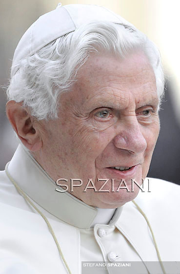 Pope Benedict XVI during his weekly general audience in St. Peter square at the Vatican, Wednesday. 12 october, 2011