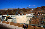 The Hoover dam on the Colorado River, Nevada and Arizona border, USA