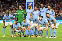 Houston, TX - Thursday July 20, 2017: Manchester City Starting XI during a match between Manchester United and Manchester City in the 2017 International Champions Cup at NRG Stadium.