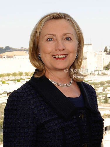 United States Secretary of State Hillary Rodham Clinton meets with Minister of Defense and Deputy Prime Minister Ehud Barak of Israel   (not pictured) at the David Citadel Hotel in Jerusalem, Israel, on Wednesday, September 15, 2010. .Credit: Department of State via CNP